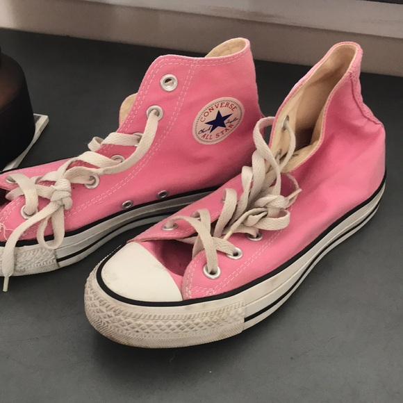 Converse Shoes | Ladies High Top Pink